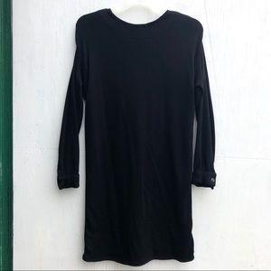 Donna Karan New York Black Wool Dress